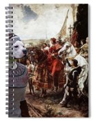 American Staffordshire Terrier Art Canvas Print  Spiral Notebook