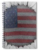 American Sunflower Power Spiral Notebook