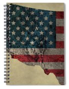 American West Topography Map Spiral Notebook