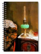 Americana - Still Life With Hurricane Lamp Spiral Notebook