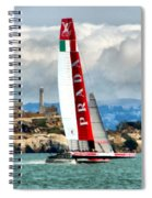 America's Cup And Alcatraz Ll Spiral Notebook