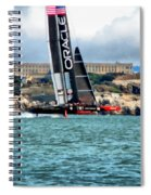 America's Cup And Alcatraz Spiral Notebook