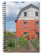 Amish Barn And Garden Spiral Notebook