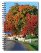 Amish Barn In Autumn Spiral Notebook