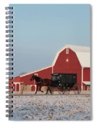 Amish Buggy And Red Barn Spiral Notebook