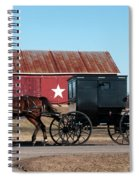 Amish Buggy And Star Barn Spiral Notebook