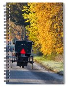 Amish Buggy And Yellow Leaves Spiral Notebook