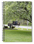 Amish Buggy At Riverbend Park Spiral Notebook