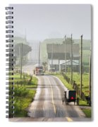Amish Buggy Confronts The Modern World Spiral Notebook