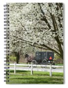 Amish Buggy Fowering Tree Spiral Notebook