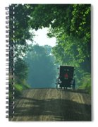 Amish  Buggy Gravel Road Spiral Notebook