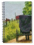 Amish Buggy In Ohio Spiral Notebook