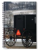 Amish Buggy In Winter Spiral Notebook