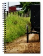 Amish Buggy On Dirt Road Spiral Notebook