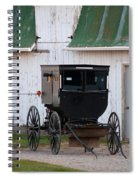 Amish Buggy White Barn Spiral Notebook