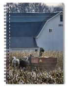Amish Corn Picking And 1919 Barn Spiral Notebook
