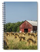 Amish Country Wheat Stacks And Barn Spiral Notebook