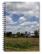 Amish Farm Landscape Spiral Notebook