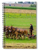 Amish Farmer Spiral Notebook
