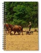 Amish Farmer Tilling The Fields Spiral Notebook