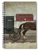 Amish Horse And Buggy And The Star Barn Spiral Notebook