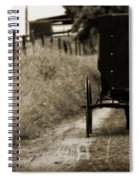 Amish Horse And Buggy Spiral Notebook