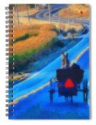 Amish Horse And Buggy In Autumn Spiral Notebook