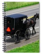Amish Horse And Buggy In Ohio Spiral Notebook