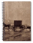 Amish Horse And Buggy With Wagon Bw Spiral Notebook