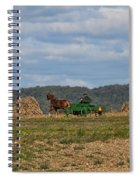 Amish Man Boy Buggy Spiral Notebook