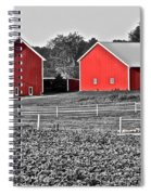 Amish Red Barn And Farm Spiral Notebook