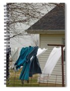 Amish Washday - Allen County Indiana Spiral Notebook