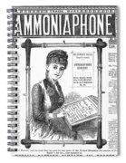 Ammoniaphone, 1885 Spiral Notebook