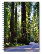 Among The Giants Spiral Notebook