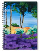 Among The Lavender Spiral Notebook