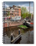 Amstel River Waterfront In Amsterdam Spiral Notebook