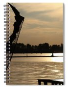 Amsterdam At Sunset Spiral Notebook