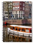 Amsterdam Canal And Houses Spiral Notebook