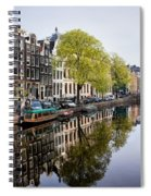 Amsterdam Canal In Spring Spiral Notebook