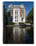 Amsterdam Canal Mansions - Bright White Symmetry  Spiral Notebook