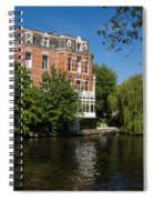 Amsterdam Canal Mansions - Floating By Spiral Notebook