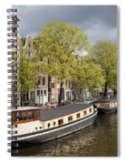 Amsterdam Canal Waterfront Spiral Notebook