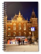 Amsterdam Central Station And Metro Entrance Spiral Notebook
