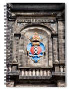 Amsterdam Coat Of Arms On Westerkerk Tower Spiral Notebook