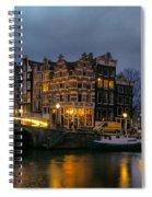 Amsterdam Corner Cafe Spiral Notebook