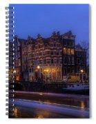 Amsterdam Corner Cafe With Light Trails Spiral Notebook