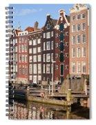 Amsterdam Houses Ar Sunset Spiral Notebook