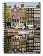 Amsterdam Houses By The Singel Canal Spiral Notebook