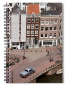 Amsterdam Houses From Above Spiral Notebook