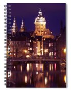 Amsterdam In The Netherlands By Night Spiral Notebook